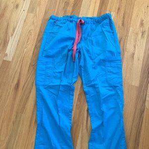 Aqua blue scrub pants